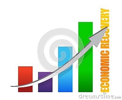 Economy recovery chart arrow illustration