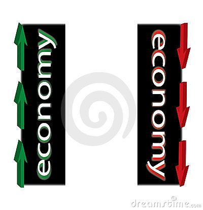 Economy Up Down Illustration
