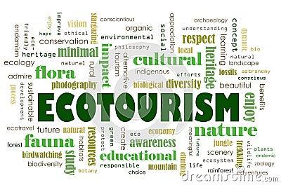Ecotourism concept