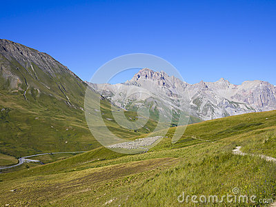 Ecrins National Park from Col du Lautaret, Alps Mountains, France
