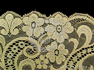 ecru floral lace band