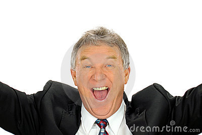 Ecstatic Businessman