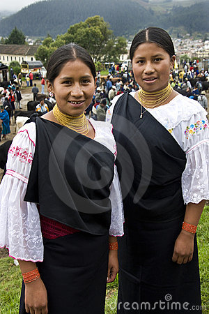 Ecuador - Ecuadorian women in Otavalo Editorial Photography