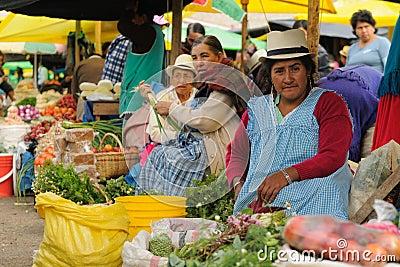 Ecuador, Ethnic latin woman Editorial Stock Photo