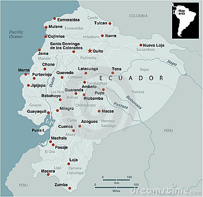 Ecuador Map Royalty Free Stock Image - Image: 11053486