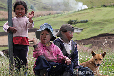 Ecuadorian children Editorial Stock Image