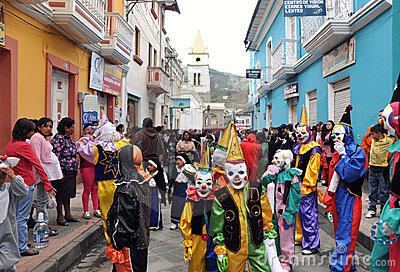 Ecuadorian Festival Goers Editorial Photo