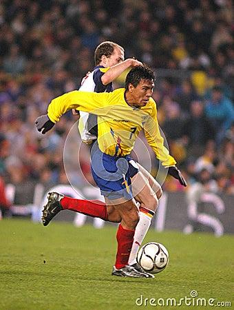 Ecuadorian player Luis Gomez Editorial Stock Image