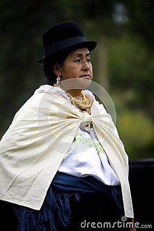 Ecuadorian woman - Otavalo - Ecuador Editorial Stock Image