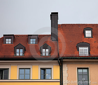 Рed tile roof in Munich, Germany