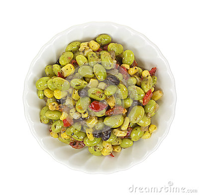 Free Edamame Salad In Small Bowl Royalty Free Stock Image - 29969286