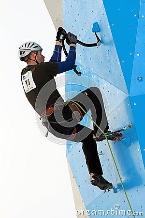 Eddie Bauer Mixed Climbing Editorial Photo