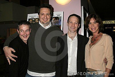 Eddie Jemison and Craig Carlisle with Michael Leydon Campbell and Terri Mann at the Los Angeles Premiere Of  Bob Funk . Laemmle s Editorial Photography