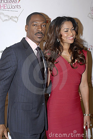 Eddie Murphy and Tracey Edmonds on the red carpet. Editorial Image