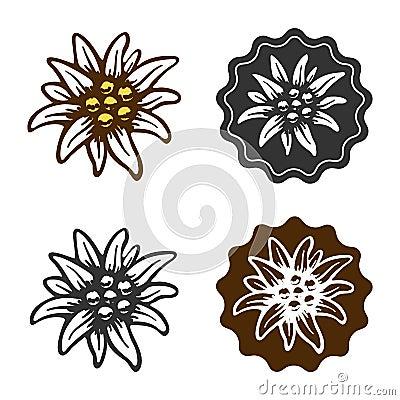 Free Edelweiss Flower Symbol Alpinism Alps Germany Logo Royalty Free Stock Photos - 53319468