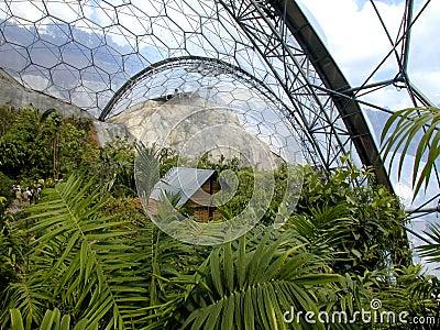 Eden Project - Biome Stock Photo