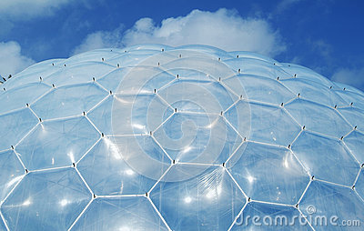 Eden Project Biome roof Editorial Stock Photo
