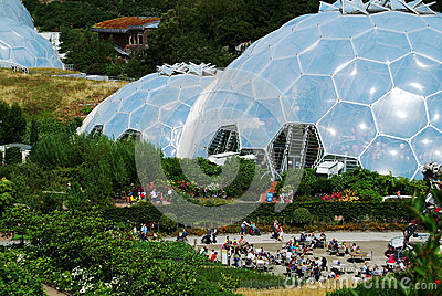 Eden Project Biomes 1 Editorial Stock Image