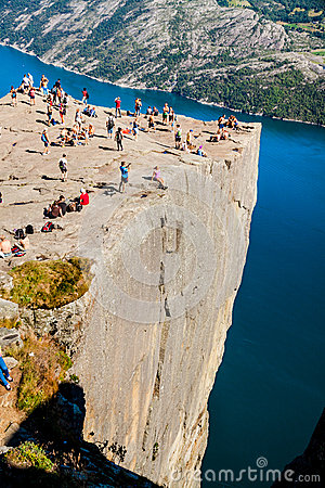 Free Edge Of Pulpit Rock, Norway Stock Photography - 43465542