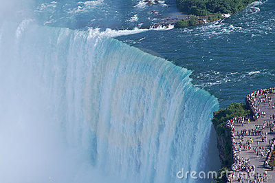 The edges of Niagara fall