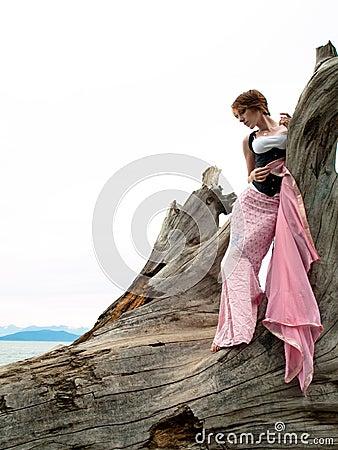 Edgy fashion model posing
