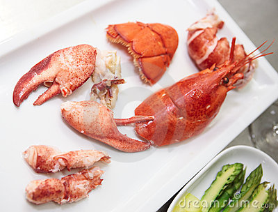 Edible parts of a lobster