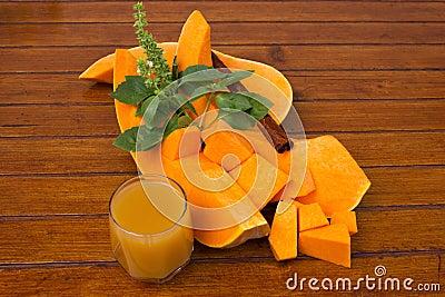 Edible pumpkin - squash and juice