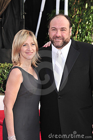 Edie Falco, James Gandolfini Editorial Photo
