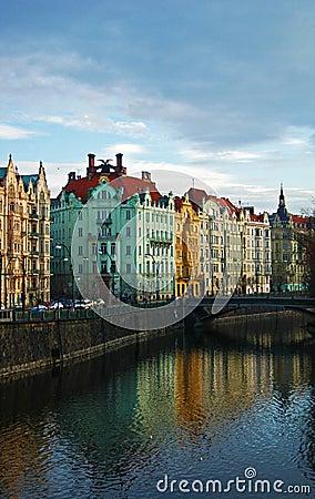 Edifícios coloridos de Praga