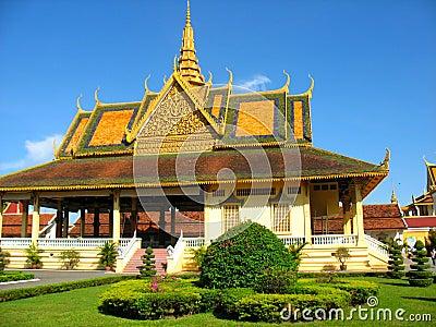 Edifícios do parque reais em Phnom Penh