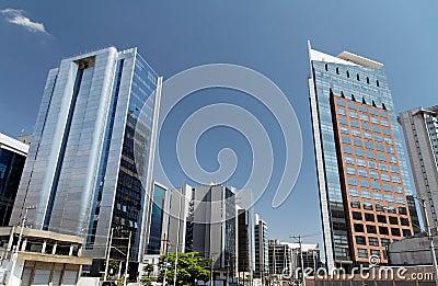 Edifícios modernos em Sao Paulo