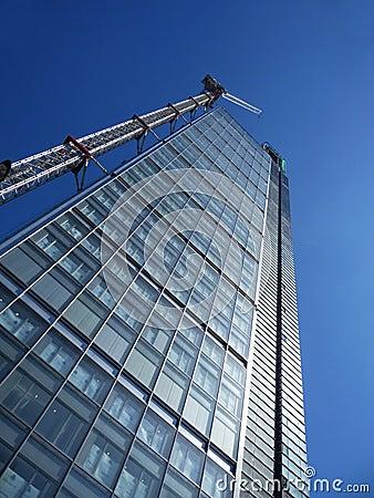 Edificio bajo construcción en Londres