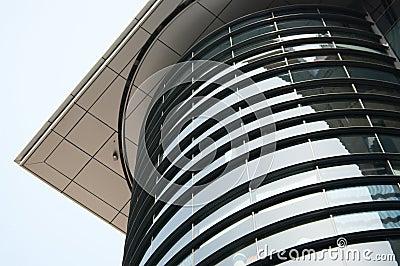 Edificio de oficinas curvado en Glasgow, Escocia, Reino Unido