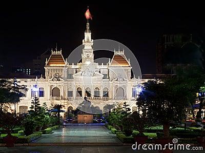 Edificio del comité de la gente en Vietnam