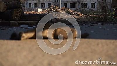 Edificio viejo vacío destruido metrajes