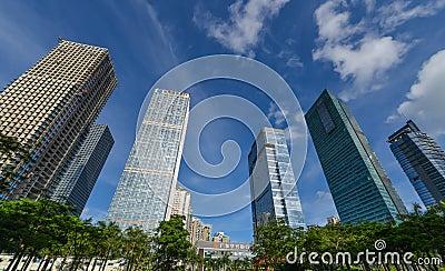 Edificios altos Imagen de archivo editorial