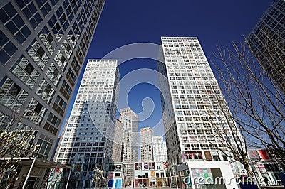 Edificios altos alrededor de CBD Foto editorial