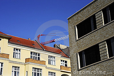 Edificios con la horca-grúa
