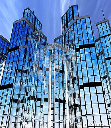 Edificios modernos fachadas fotograf a de archivo libre for Fachadas edificios modernos