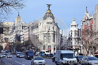 Edifisio Metropolis building Editorial Image