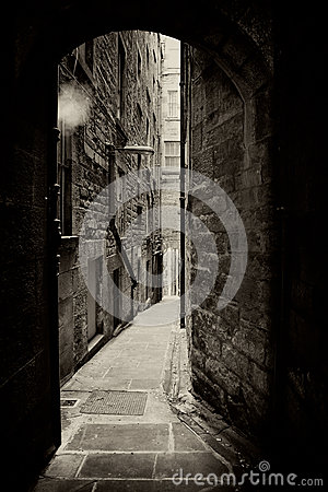 Edinburgh alley sepia