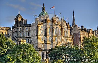 Edinburgh Buildings in Sunset