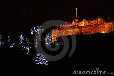 Edinburgh Castle at Christmas