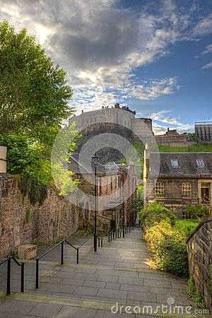 Free Edinburgh Castle From Heriot Place, Edinburgh, Scotland, UK Royalty Free Stock Photo - 31892785
