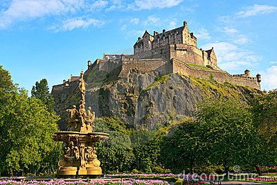 Edinburgh Castle, Scotland, Ross Fountain