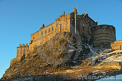 Edinburgh Castle, Scotland, UK, in winter light