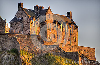 Edinburgh Castle in Sunset