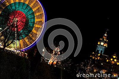 Edinburgh Christmas Lights Stock Photography Image 4107802