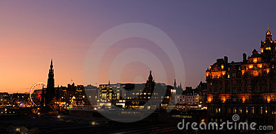 Edinburgh Christmas panorama