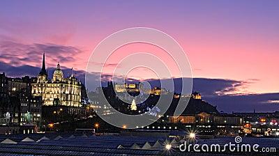 Edinburgh Christmas panorama